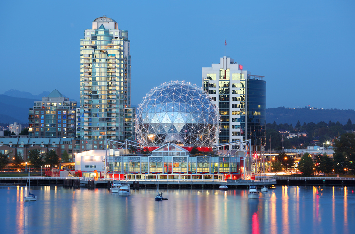 The city of Vancouver in British Columbia, Canada