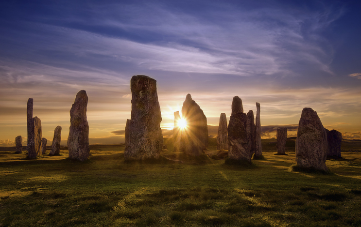 Callanish stones at sunset, Scotland