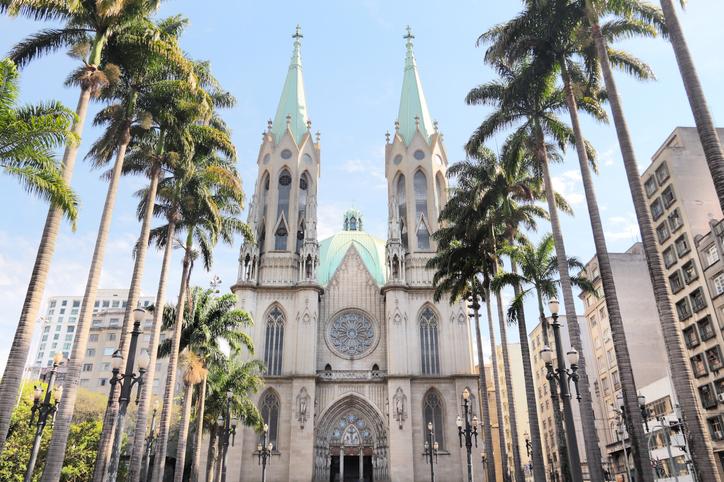 Sao Paulo Metropolitan Cathedral (Catedral de Se) - landmark in Brazil.