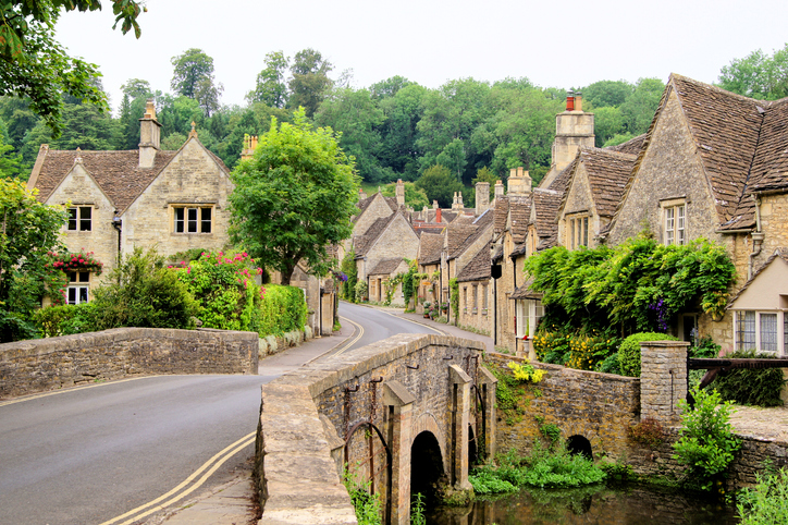 Picturesque Cotswold village of Castle Combe, England