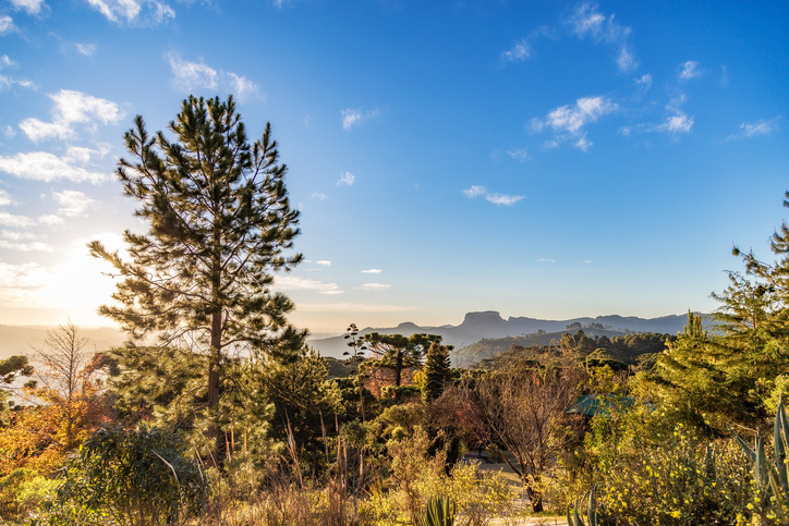 Campos do Jordao, Brazil. Pedra do Bau view