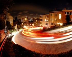 Lombard Street in San Francisco at night