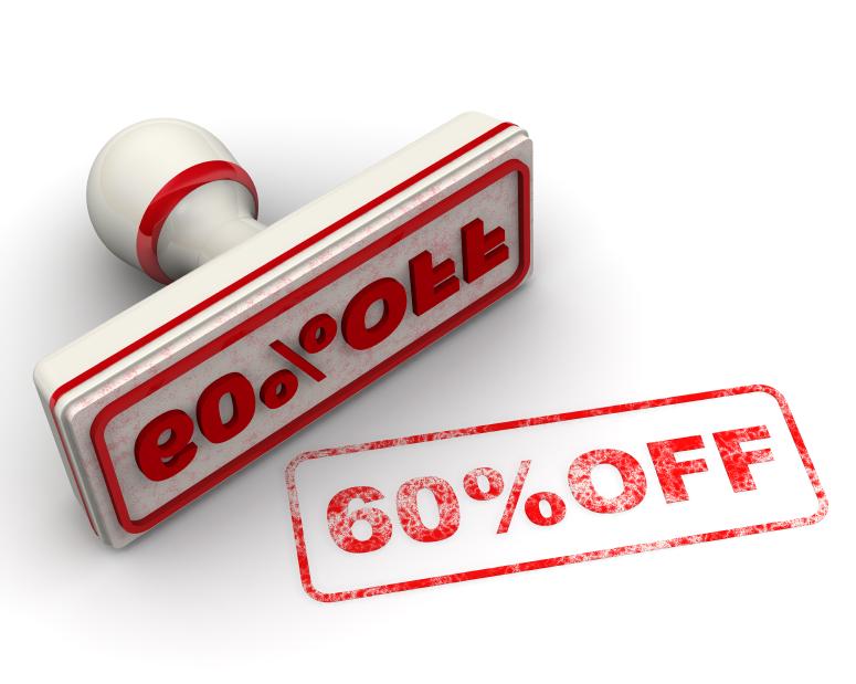 Скидка 60% (60% OFF). Печать и оттиск (60% OFF. Seal and imprint)