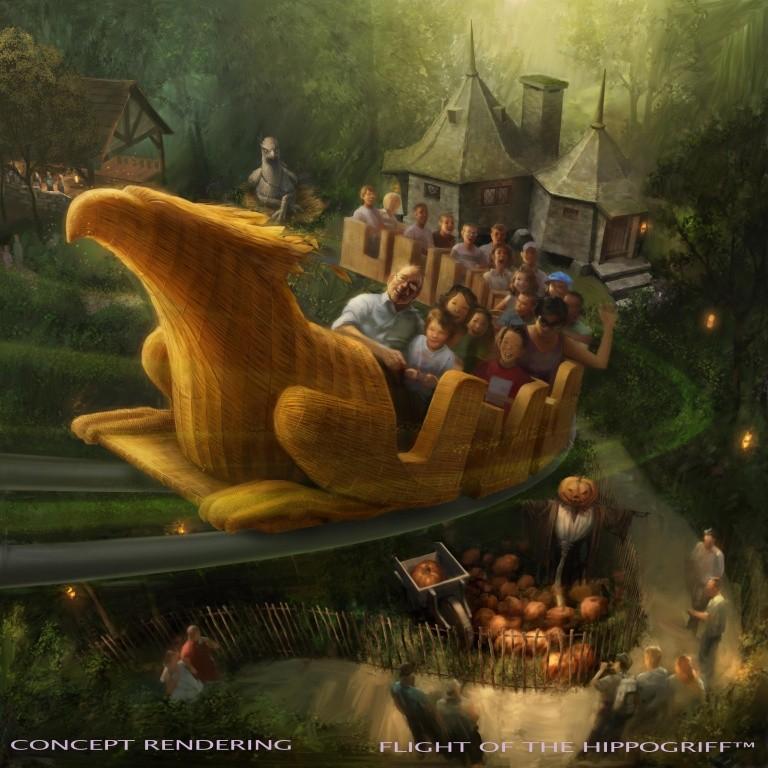 USH-WWoHP Flight of Hippogriff rendering