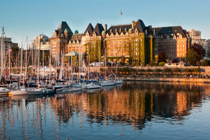 A busy sunset in Victoria, BC, Canada.