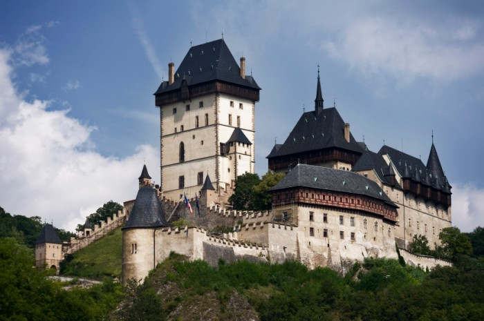 Karlstein castle, Czech Republic. Castle was build to store royal regalia by Karl IV - the Czech King and King of Holy Roman Empire.