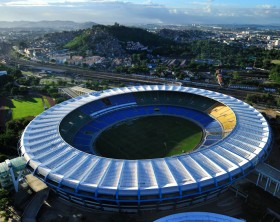 Maraca Stadium, world famous soccer stadium, originally built in 1950 to host FIFA World Cup. It will host 2014 World Cup and opening & closing ceremony of 2016 Rio Olympic, Rio de Janeiro, Brazil