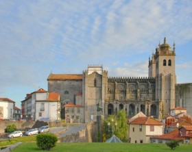 View of Se Cathedral in Porto, Portugal