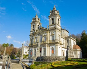 basilica of Shrine of Good Jesus of the Mountain , Braga, Portugal