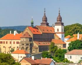 Trebic, old monastery and St. Procopus Basilica (a UNESCO world heritage site), Czech Republic