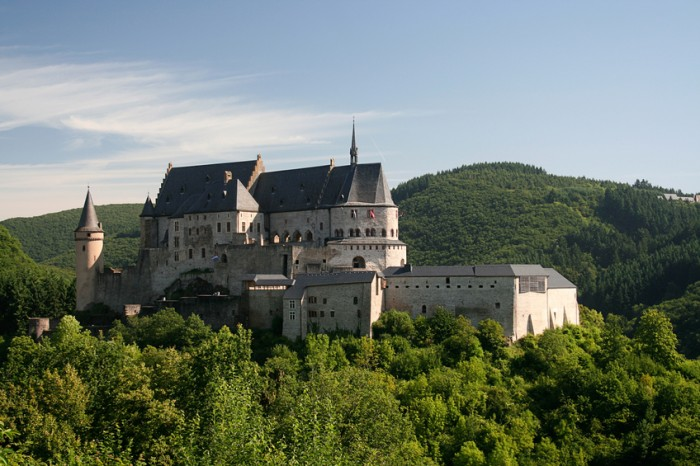 """""""Castle in Vianden, Luxembourg on a summers morning"""""""