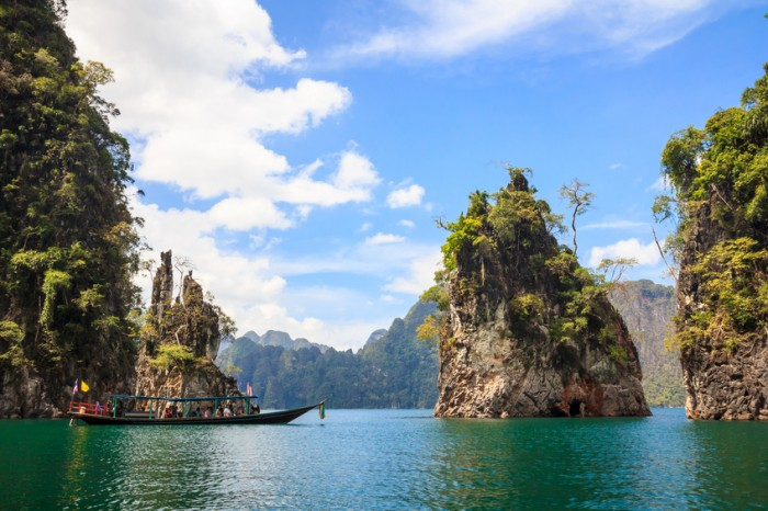 Rocks in Khao Sok National Park, Thailand.