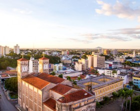 Aerial view of Cuiaba city, Brazil