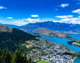 Aerial view of Queenstown Valley, New Zealand