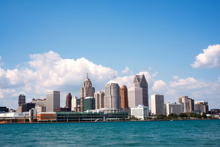 Skyline of downtown Detroit from Windsor, Ontario