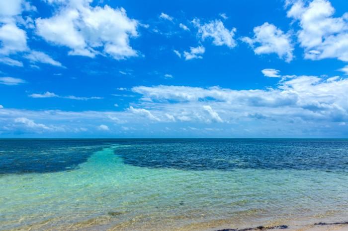 beautiful  beach in the Keys near Key West, Florida