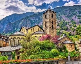 Sant Esteve church in Andorra la Vella, Andorra
