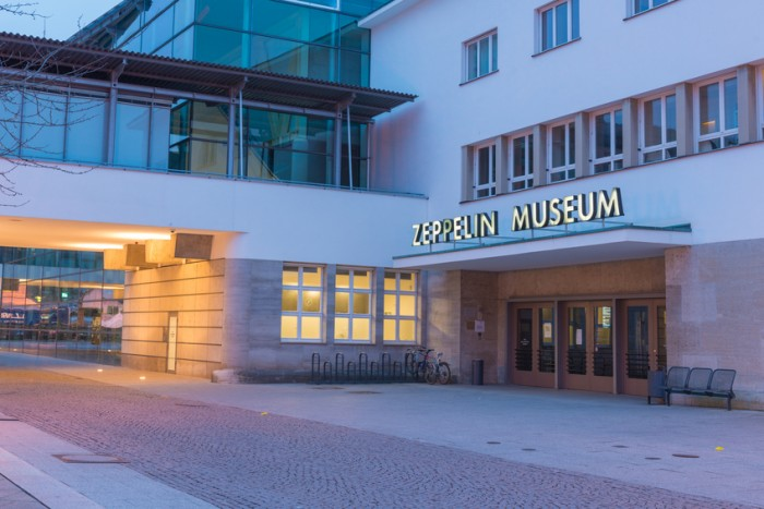 Friedrichshafen, Germany - February 18, 2014: The Zeppelin Museum in Friedrichshafen - the birthplace of the Zeppelin airship