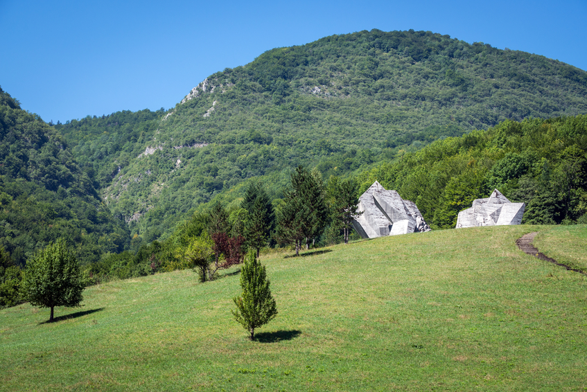 War Memorial in Sutjeska National Park, Bosnia and Herzegovina