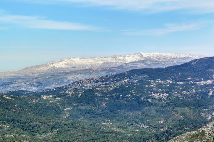 Mount Sannine with snow in Lebanon