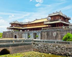 Citadel on the Northern bank of the Perfume River. Hue