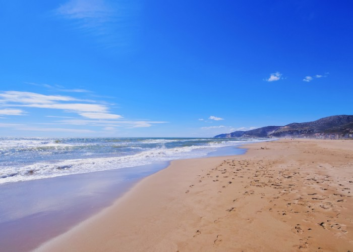 Beach in Castelldefels - a coastal city near Barcelona, Catalonia, Spain