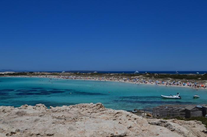 Mar Mediterraneo. Ses Illetes Playa. Formentera, Spain