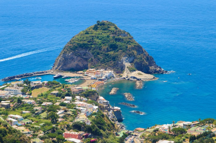A view of Sant'Angelo in Ischia island in Italy