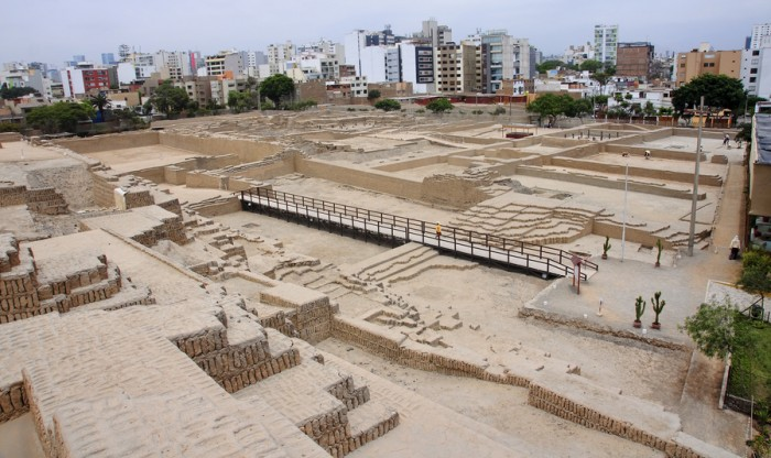 The Huaca Pucllana is a great adobe and clay pyramid located in Lima