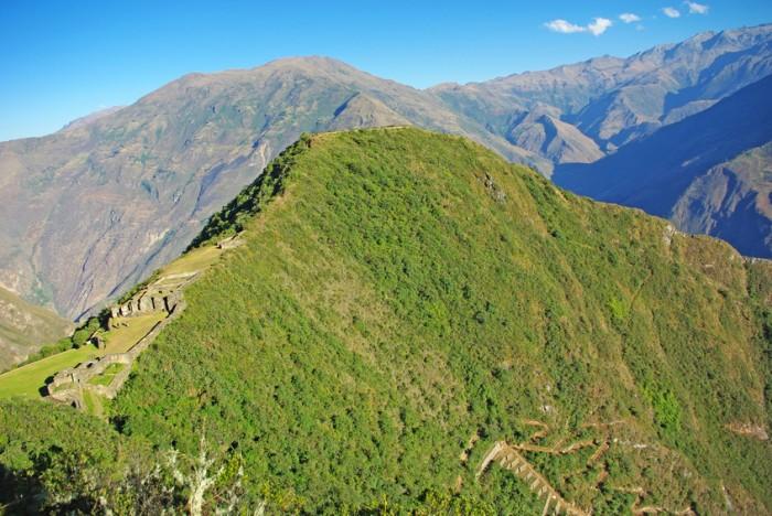 View over Choquequirao mountain in Peru, the other Machu Picchu
