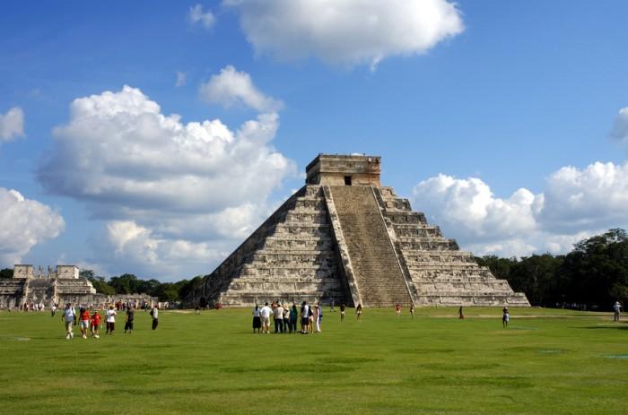 The famous Maya ruin near Cancun