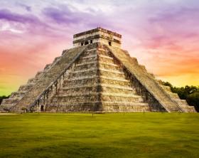 Pyramid Kukulkan temple. Chichen Itza. Mexico. Maya civilization