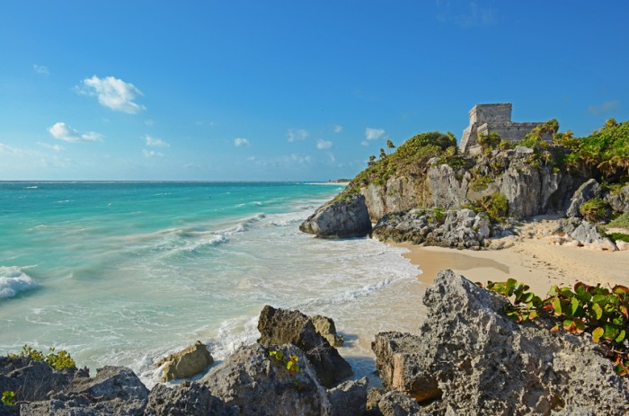 The ruins of Tulum in Mexico.