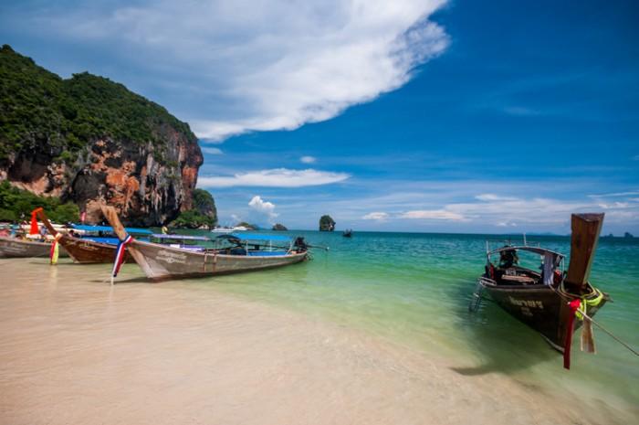 Karst rock formation, Thailand, Krabi, Laem Phra Nang