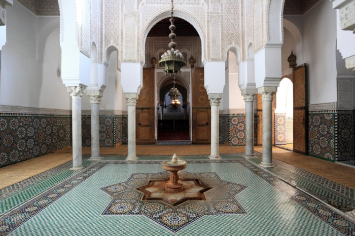 Mausoleum of Moulay Ismail in Meknes, Morocco, North Africa