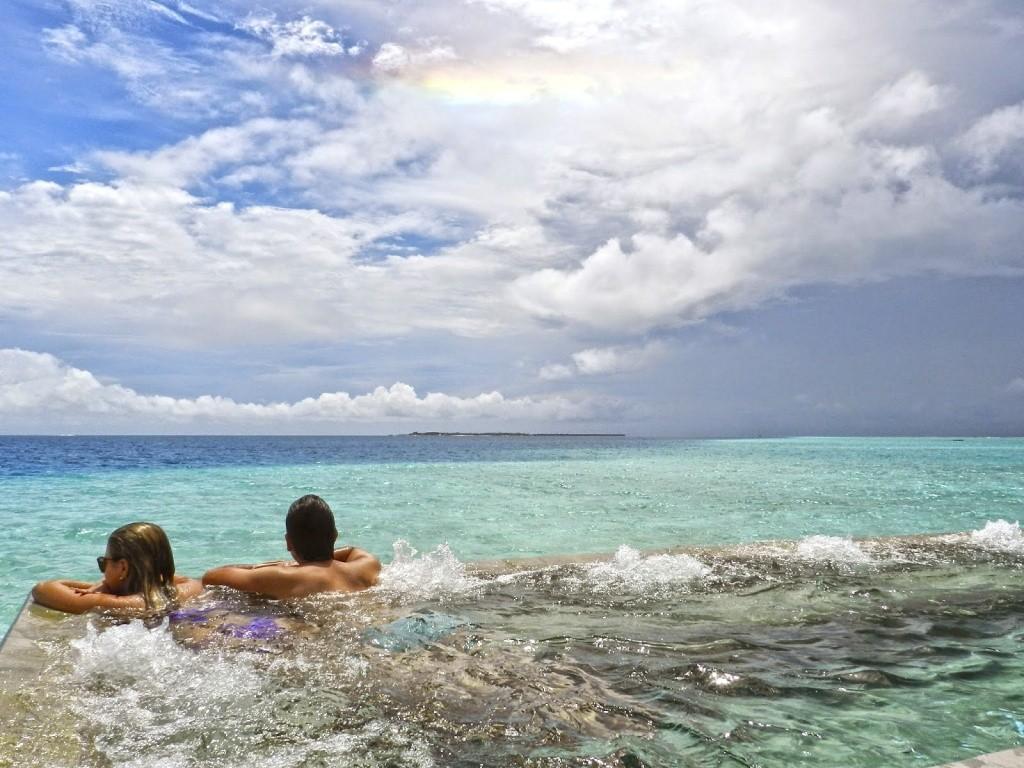 Na piscina do Spa no Velassaru Maldives | Créditos: Lala Rebelo