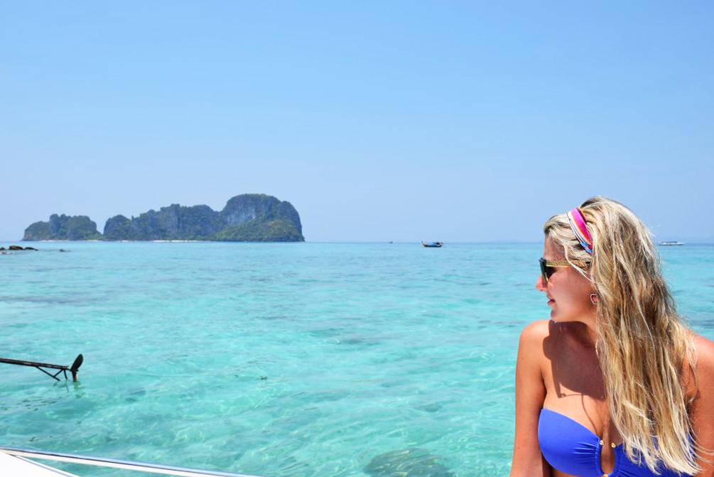 Bamboo Island, em Phi Phi/Krabi, Tailândia | Créditos: Lala Rebelo