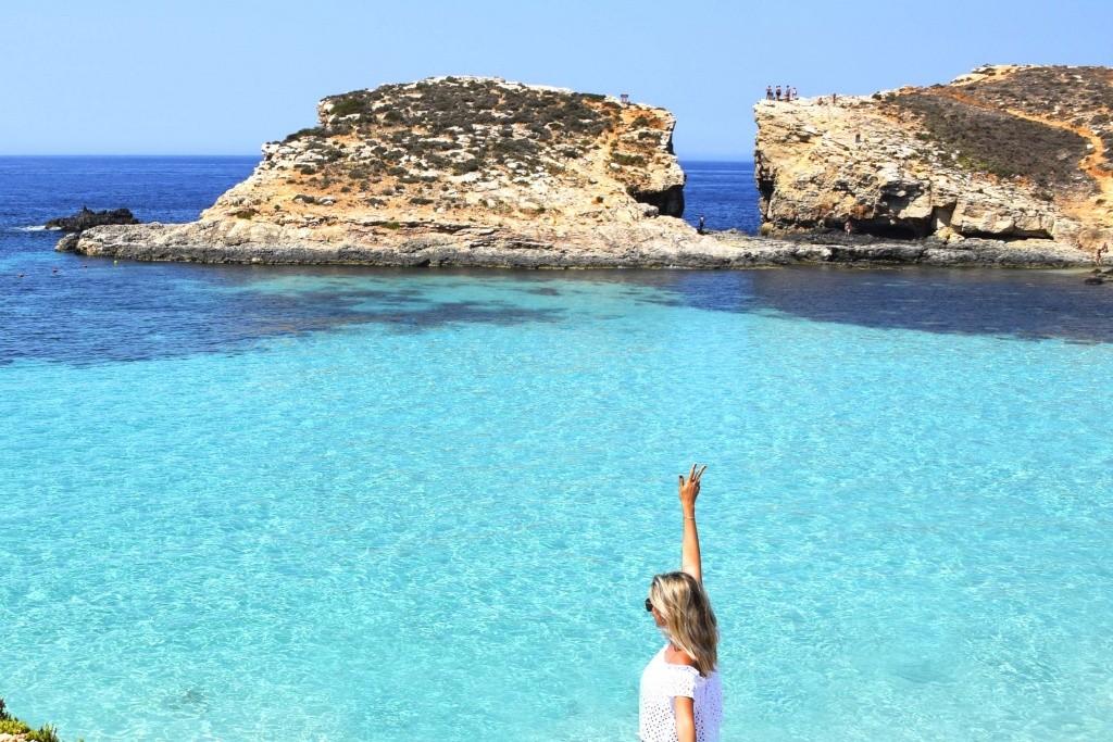 Blue Lagoon na ilha de Comino, Malta | Créditos: Lala Rebelo