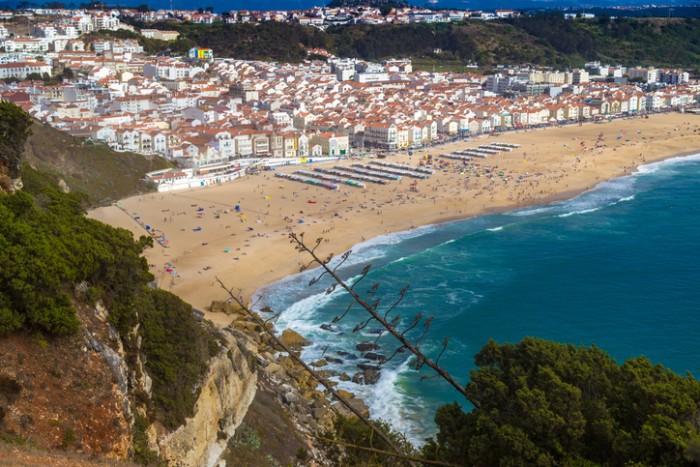 Panorama of Nazare, Portugal