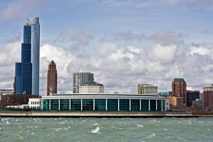 Buildings od South Loop in Chicago.