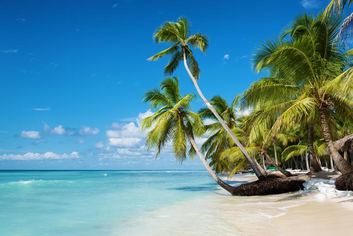 Caribbean beach in Saona island, Dominican Republic