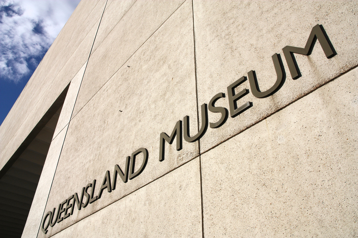 Brisbane, Australia - March 22, 2008: Queensland Museum on March 22, 2008 in Brisbane, Australia. It was founded in 1862. More than 1 million people visited the museum in 2011.