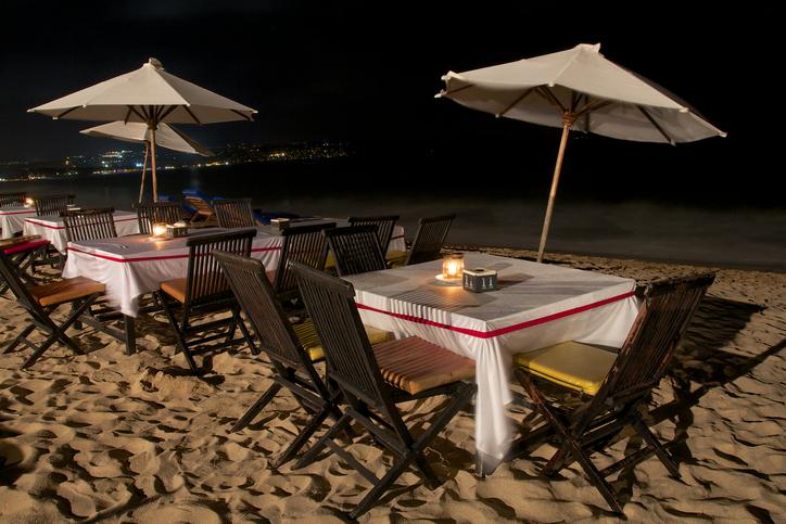 restaurant on the jimbaran beach
