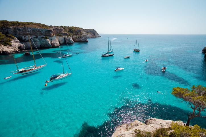 Holidays at Cala Macarella, Minorca, Spain
