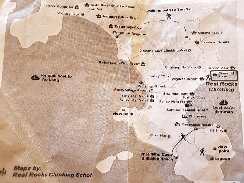 mapa railay beach