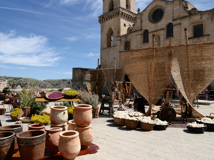 Medieval Market in Sassi Of Matera Italy