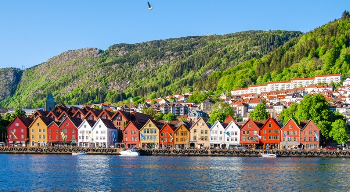 Cityscape view of Bergen, Norway