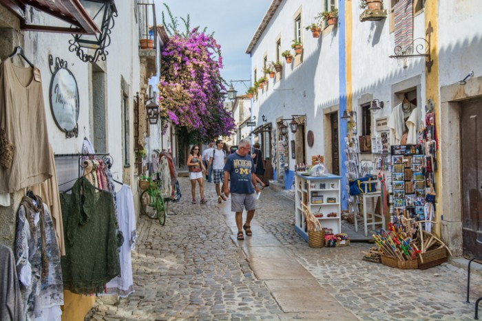 Obidos Portugal. 30 September 2016. view of Obidos, Obidos is an ancient medieval Portuguese village, from the 11th century, still inside castle walls. Obidos, Portugal. photography by Ricardo Rocha.