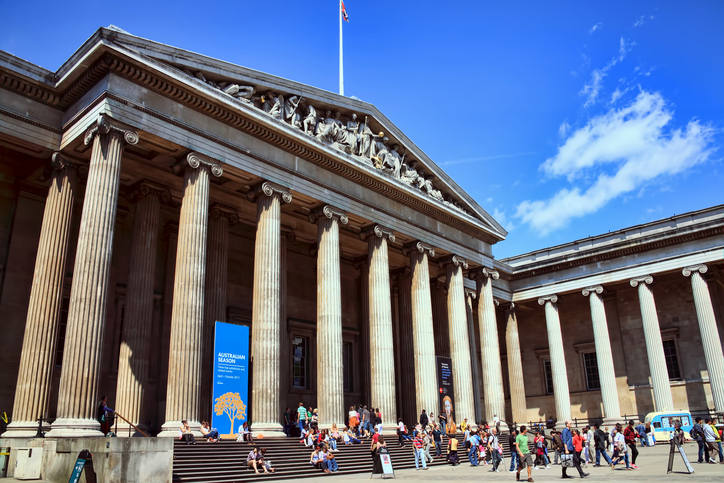London, United Kingdom, July 24, 2011 : The British Museum in Bloomsbury, which was established in 1753 and has more than 7 million objects of antiquity in its collection