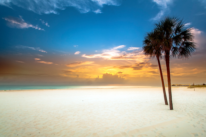 How serene is this?  Soft white sand beneath your feet, the gentle waves, the gulf breeze, and glorious colors.  St Pete Beach, St Petersburg, Florida.